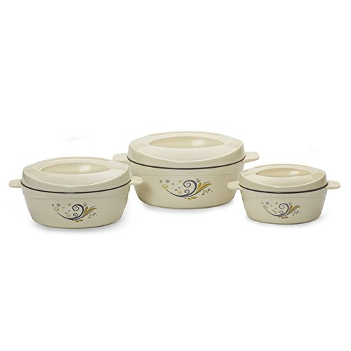 Cello Cuisine Insulated Casserole Gift Set 3-Pieces Ivory
