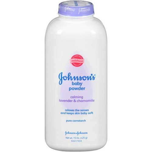 Johnson & Johnson 003017 Baby Pure Cornstarch, Calming Lavender & Chamomile, 15 oz. (Pack of 24) by Johnson