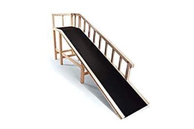 "Gentle Rise Dog Bed Ramp | 74"" Long and Supports Small, Large, Elderly Dogs up to 120 LBS"
