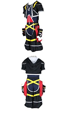 Kingdom Hearts II 2 1st Version Sora Cosplay Costume Black -