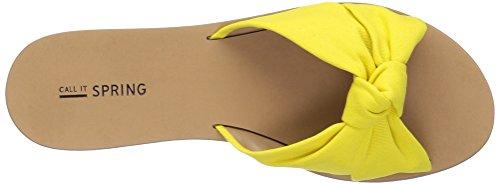 Call It Spring Womens Dwecien Slide Sandal Light Yellow XCNsdnnYD