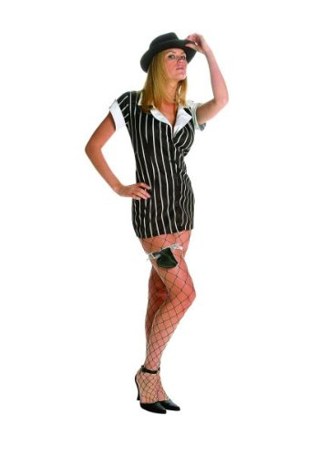 Female Mobsters Costumes (Mobster - Poplin, XXXL (20 - 22) Costume)