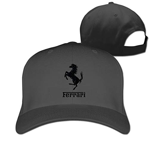 - HANRUI New Custom Ferrari Logo Funny 100% Organic Cotton Peak Cap for Mens Casquette Black