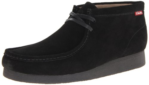 Clarks Men's Stinson Hi Chukka Boot,Black Suede,10 M US