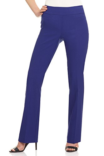 Rekucci Women's Ease in to Comfort Boot Cut Pant (4SHORT,Sapphire)