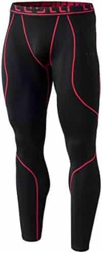 TSLA Men's Emboss Pants Thermal Wintergear Compression Baselayer Sports Leggings YUP43 / YUP33
