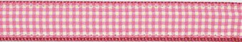 Pink Gingham Dog Lead 5/8 Inch (Up Country Pink Gingham)
