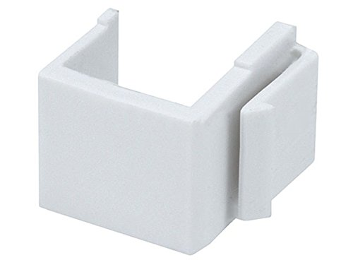 Monoprice Blank Insert For Wall Plate - 10pcs/Pack (White)