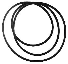 144959 Replacement belt . For Craftsman, Poulan, Husqvanra, Wizard, more.1/2 X 95.5