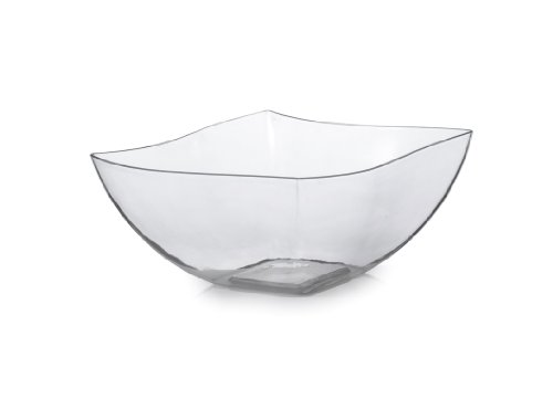 (Fineline Settings Wavetrends Clear China-Like Square 8 oz. Serving Bowl 80 Pieces)