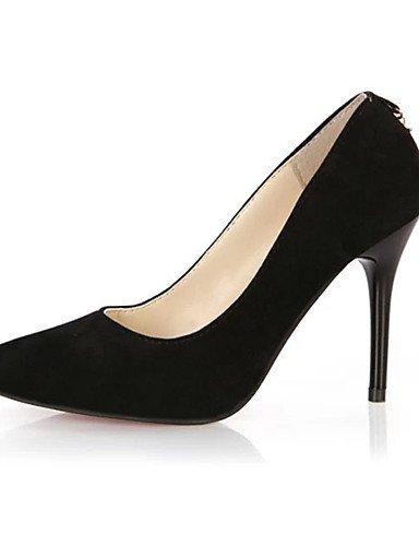 GGX Damen Schuhe Fleece Sommer Heels Heels Casual Stiletto Stiletto Stiletto Heel andere schwarz blau Burgunderrot a59364