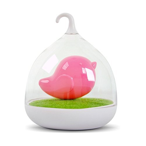 LiteXim Pink Creative Rechargeable Bird Cage LED Lamp Light Intelligent Touch Sensor LED Lights Sleeping in Fairy Tale