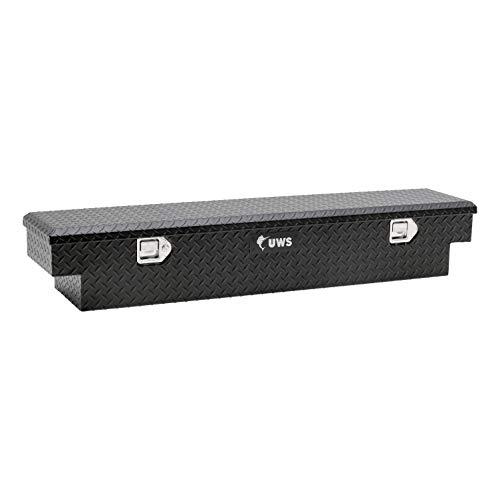 59-Inch Matte Black Heavy-Wall Aluminum UTV Tool Box for Select Honda Pioneer 1000, RigidCore Lid - UWS EC10893-HP
