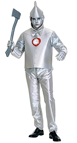 Wizard Of Oz Tin Man Costumes (Rubie's Costume Co Men's Wizard Of Oz Tin Man Costume, Silver Metallic,)