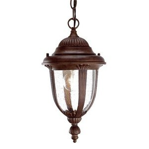 Acclaim Lighting 3512BW Monterey - One Light Outdoor Hanging Lantern, Burled Walnut Finish with Clear Seeded Glass