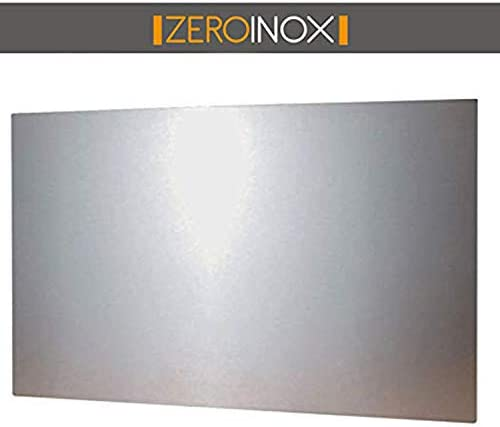 ZeroInox Spritzschutz aus Edelstahl – Verschiedene Größen – Produkt von hoher Qualität, einfach zu reinigen – für Haus oder Industrie (90 x 50 cm)