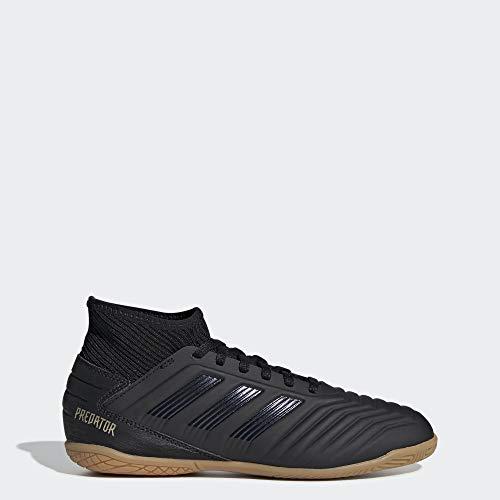 adidas Unisex Predator 19.3 Indoor Soccer Shoe, Black/Gold Metallic, 3.5 M US Big Kid