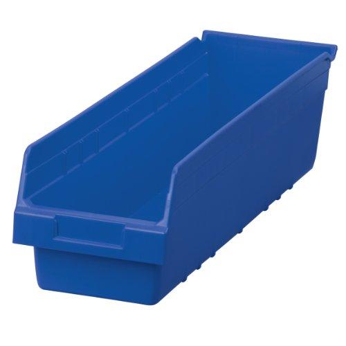 Akro-Mils 30094 ShelfMax Plastic Nesting Shelf Bin Box, 24-Inch L by 6.5-Inch W by 6-Inch H, Blue, Case of 10
