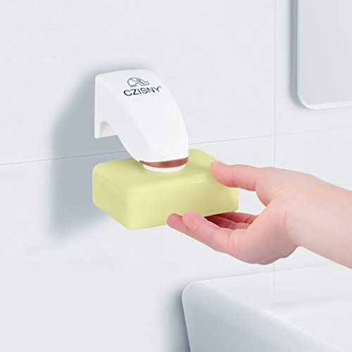 Foluu Magnetic Soap Holder 3m Adhesion Wall Soap Holder Suction Cup Household Container Dispenser Wall Attachment Adhesion for Bathroom Soap Accessories