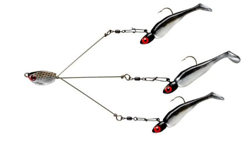 4 yum fishing lures yumbrella money fry pearl   black pearl