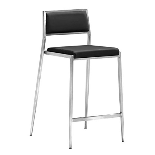 Zuo Dolemite Counter Chair (Set of 2), Black
