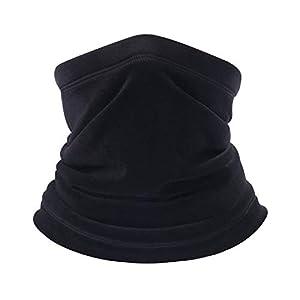 BINMEFVN Polar Fleece Neck Warmer Windproof Winter Neck Gaiter Cold Weather Face Mask for Men Women 1 or 2 Pack