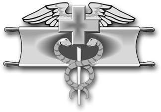 COMBAT MEDICAL BADGE STICKER OUTSIDE APPLICATION