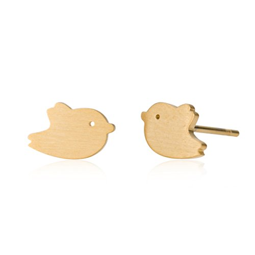 Love Free of Life Animal Bird Stud Earrings Jewelry For Girls Gold