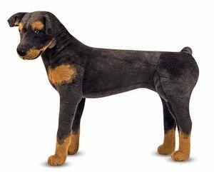 Rottweiler Plush Dog 26 Inch Tall By Melissa & Doug