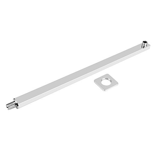 60 Cm Extension (60cm Square Shower Extension Arm Fixed Rain Shower Head Arm Chrome Wall Mounted Shower Arm For Rain Shower Head)