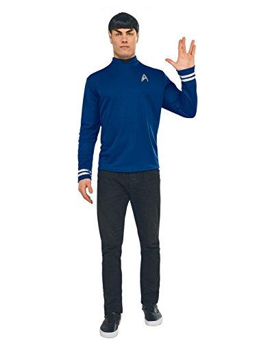 Rubie's Men's Star Trek: Beyond Spock Deluxe Costume Shirt, Blue -
