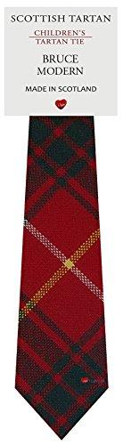 Boys Clan Tie All Wool Woven in Scotland Bruce Modern Tartan ()