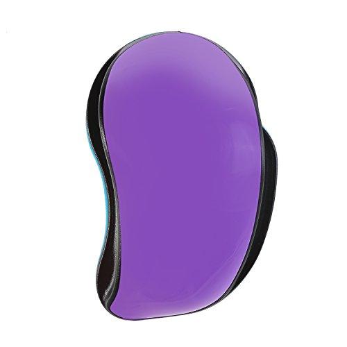 Shopper Purple (Novelty Optical Mouse Design Lovely Purple Paddle Brush Cute Detangle Hair Brush)