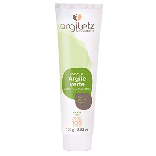 Argiletz Green Clay Face Mask for oily skin 100g / 3.53 fl.oz. 100% sourced and produced in France. Finest grade of clay.
