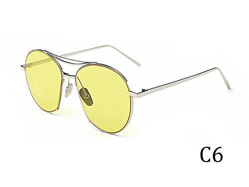 Bastidor 935C5 TIANLIANG04 Espejo Grande Sol Tonos De Metal Mujeres De Gafas En Gafas Uv400 Vintage 935C6 6raxq6w8C