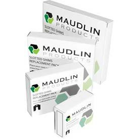 MSC020-20 MAUDLIN PRODUCTS Slotted Shim,C-4x4 Inx0.020In,Pk20