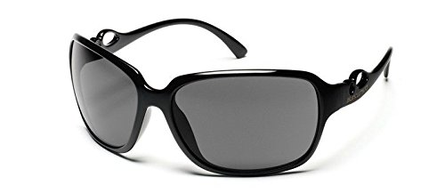 Suncloud Illusive Polarized Sunglass (Black Frame/Gray Polar - Suncloud Sunglasses Star Optics
