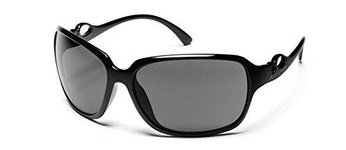 Suncloud Illusive Polarized Sunglass (Black Frame/Gray Polar - Star Sunglasses Optics Suncloud