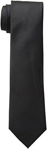Calvin Klein Men's Black Tie, Black Solid, Regular