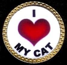 Gatormade Novelty Golf Ball Marker Love Cat   B009MAC836