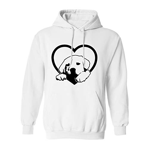 ZeroGravitee Labrador Retriever Adult Hooded Sweatshirt in White - (Retriever Adult Sweatshirt)