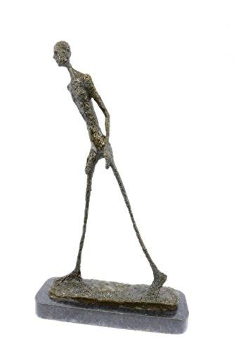 Handmade European Bronze Sculpture GIA DALI STUCK BIG MAN WALKING FIGURINE MODERN ABSTRACT Bronze Statue -UKDS-328-Decor Collectible Gift