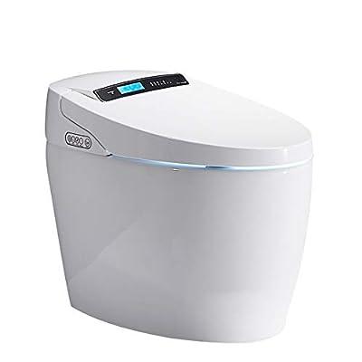 BTSSA Smart Toilet,One-Piece LCD Toilet with,Bidet Functionality Auto-Sensing flip Foam Rinse Warm air Drying Night Illumination