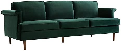 TOV Furniture The Porter Collection Contemporary Style Velvet Upholstered Living Room Sofa - a good cheap living room sofa