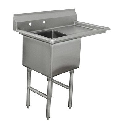 Single Fabricated Bowl Scullery Sink Width: 45'' by Advance Tabco
