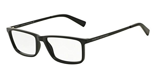 Armani Exchange AX3027 Eyeglass Frames 8078-55 - Matte Black AX3027-8078-55