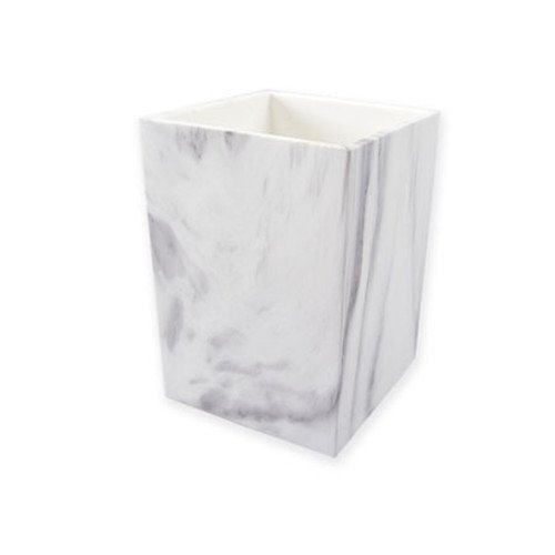Marble Pen Base - MultiBey Pen Pencil Cup Holder White Marble Texture Office Desktop Organizers