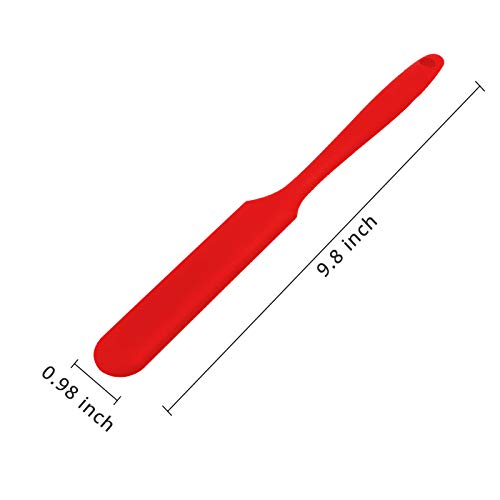 KUFUNG Silicone Spatula, BPA Free & 480°F Heat Resistant, Non Stick Rubber Kitchen Spatulas for Cooking, Baking, and Mixing (1x10 inch, Red)