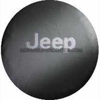 - Jeep Wrangler Black Denim W/ Logo Spare Tire Cover 29 Inch Mopar OEM