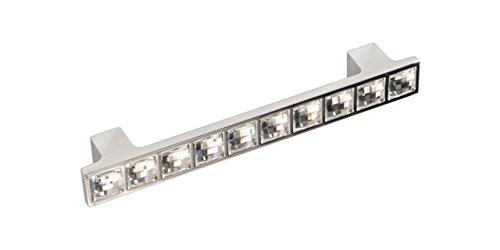 Navarro hardware 71620026 Miletus Swarovski Crystal and Polished Chrome Pull Handle